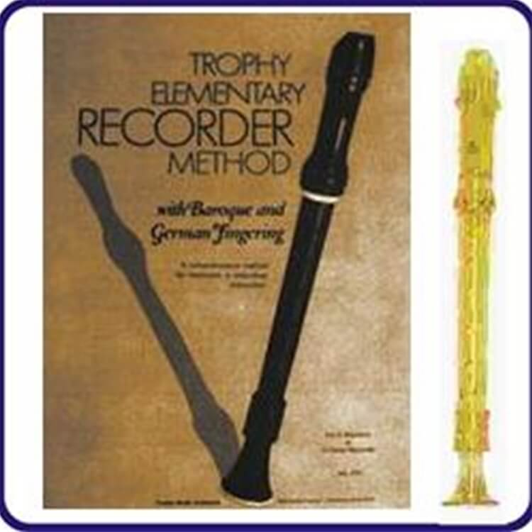 Gold Candy Apple Recorder & Trophy Recorder Book