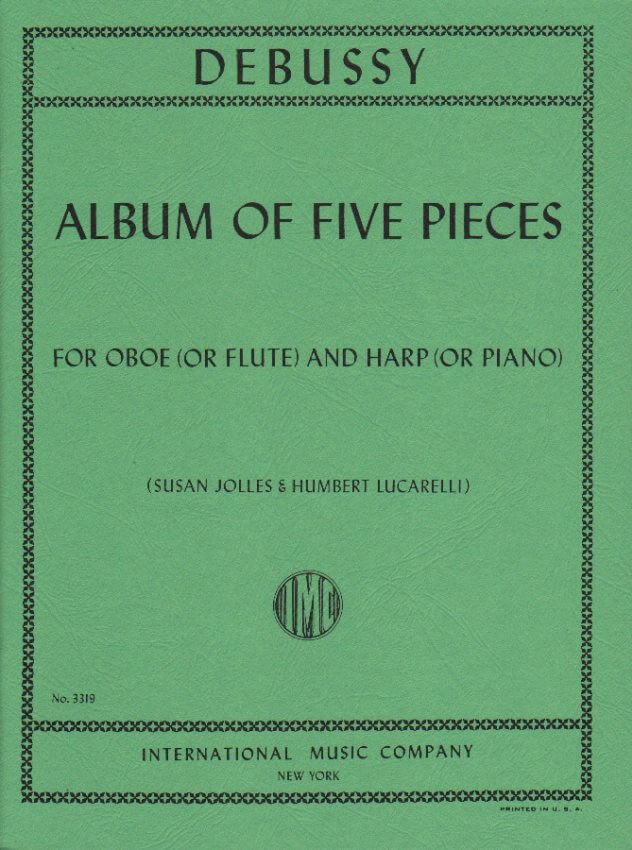 Album of Five Pieces - Oboe (or Flute) and Harp (or Piano)