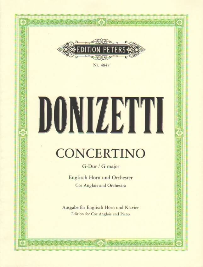 Concertino in G Major - English Horn and Piano