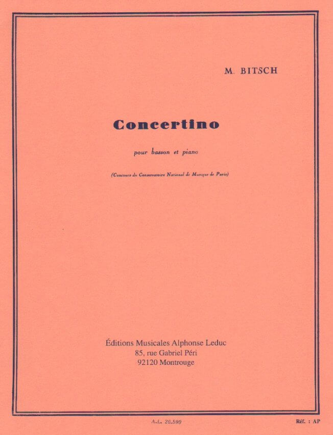 Concertino - Bassoon and Piano