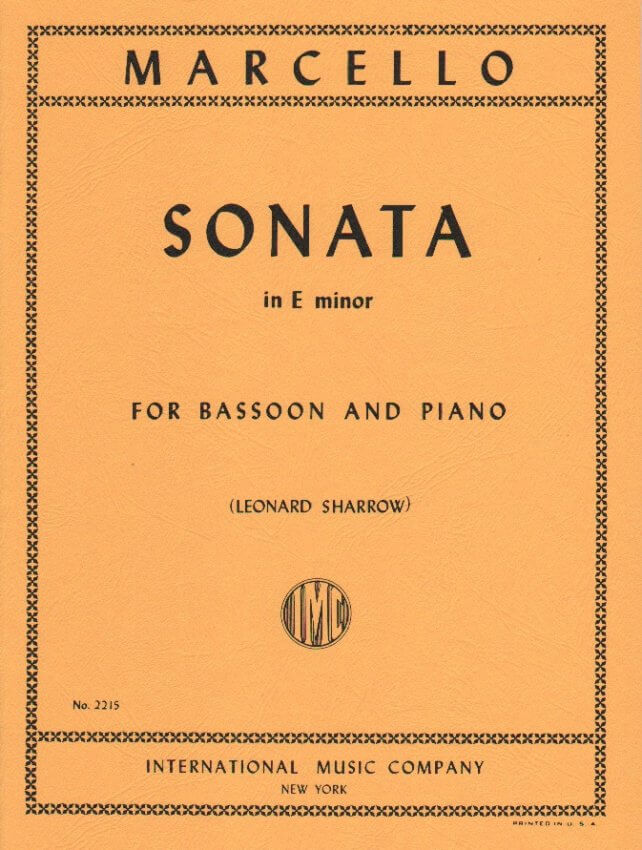 Sonata in E Minor - Bassoon and Piano