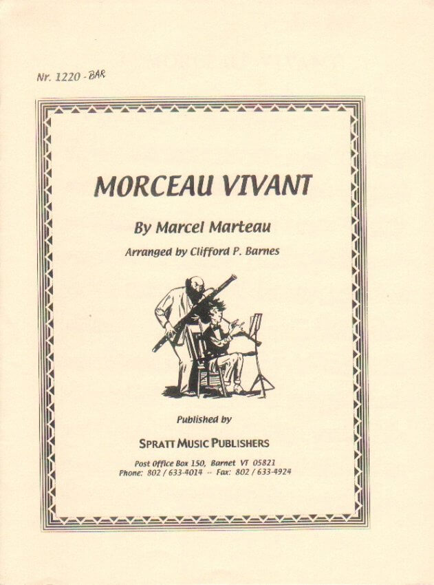Morceau Vivant - Bassoon (or Baritone) and Piano