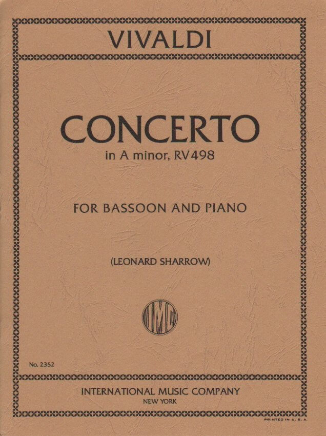 Concerto in A Minor RV 498 - Bassoon and Piano