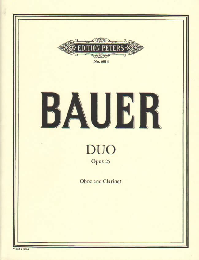 Duo, Op. 25 - Oboe and Clarinet