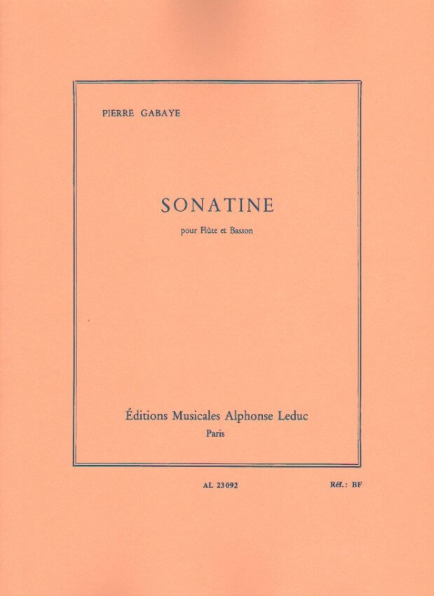 Sonatine - Flute and Bassoon