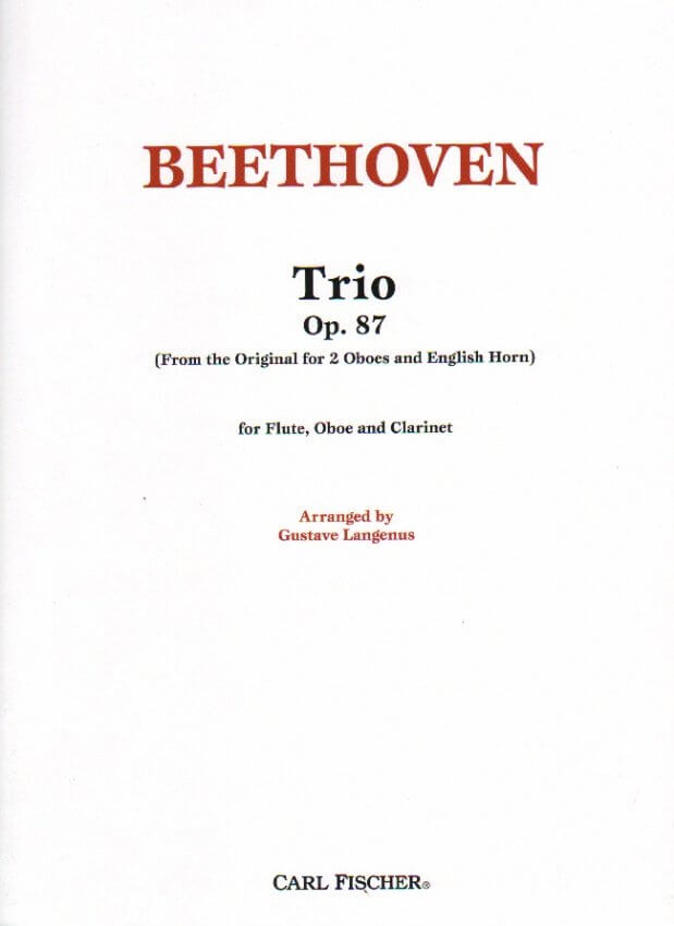 Trio, Op. 87 - Flute, Oboe, and Clarinet