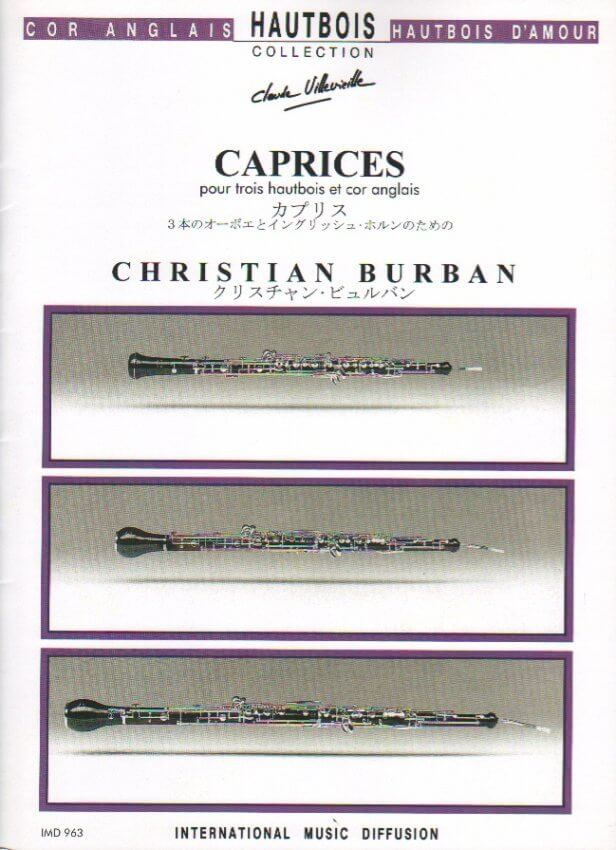 Caprices - 3 Oboes and English Horn