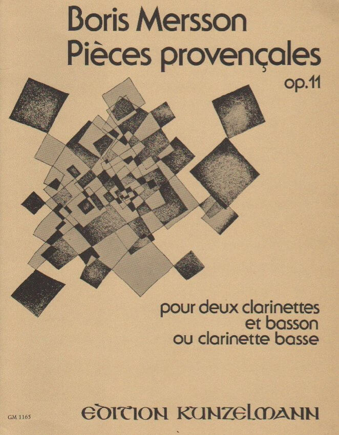 Pieces Provencales, Op. 11 - 2 Clarinets and Bassoon (or Bass Clarinet or Basset Horn)