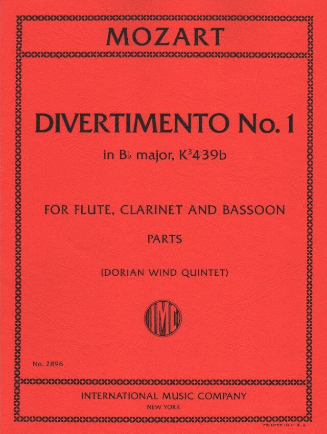 Divertimento No. 1 in B-flat Major, K. 439b - Flute, Clarinet, and Bassoon