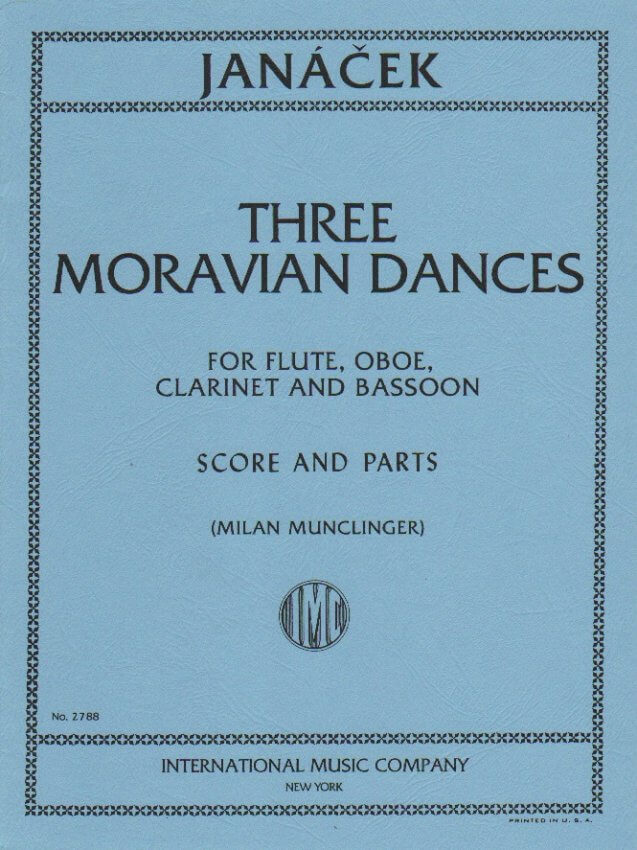 3 Moravian Dances - Flute, Oboe, Clarinet, and Bassoon