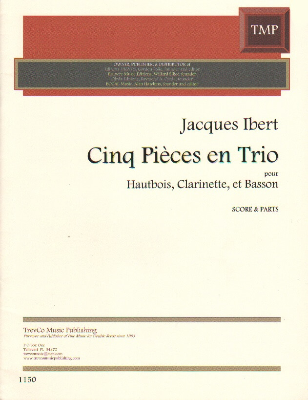 5 Pieces en Trio - Oboe, Clarinet, and Bassoon