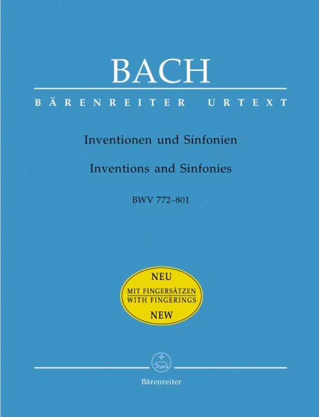 Inventions and Sinfonias BWV 772-801 (with Fingerings) - Piano