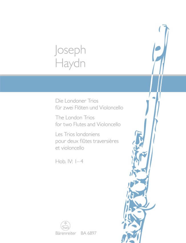London Trios, Hob. 4 Nos. 1-4 - Two Flutes and Cello (Parts)