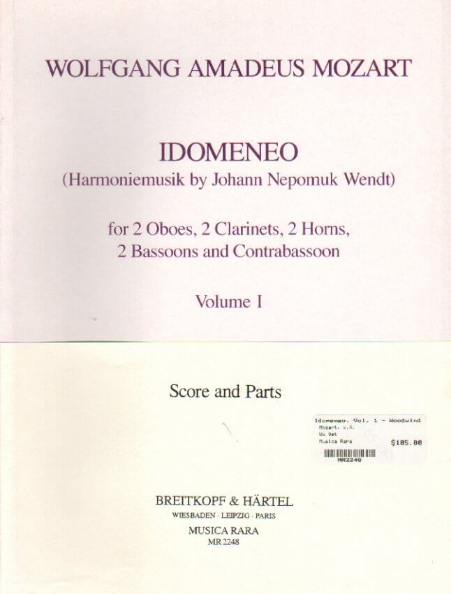 Idomeneo, Vol. 1 - Woodwind Nonet