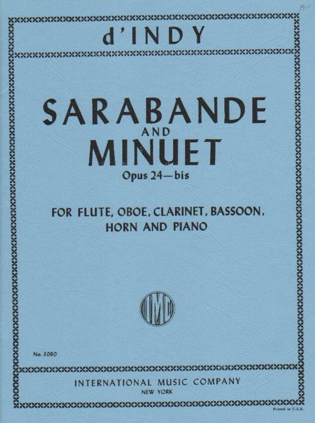 Sarabande and Minuet, Op. 24 - Woodwind Quintet and Piano (Score and parts)