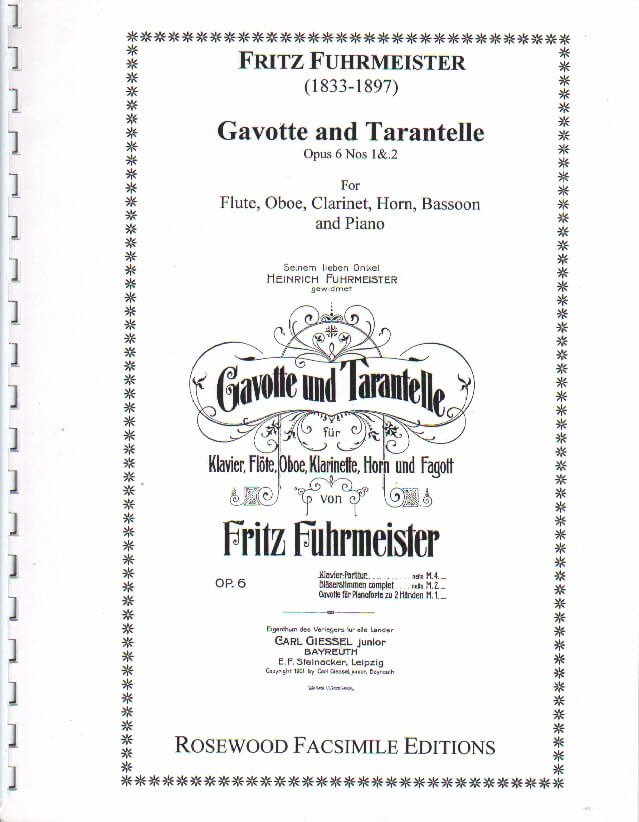 Gavotte and Tarantelle - Woodwind Quintet with Piano