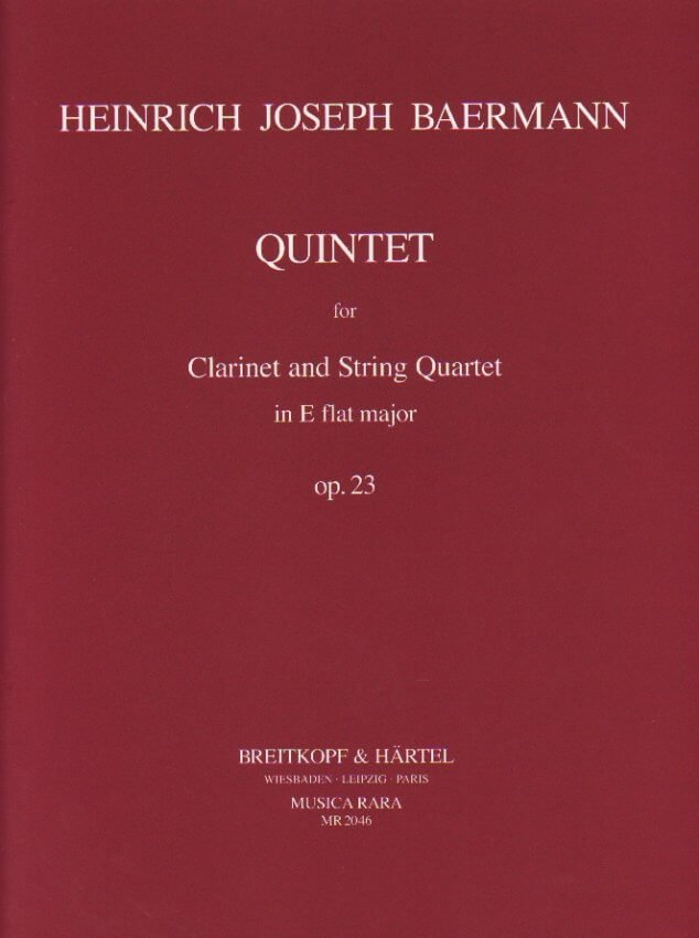 Quintet in E-flat Major, Op. 23 - Clarinet and String Quartet (Parts)