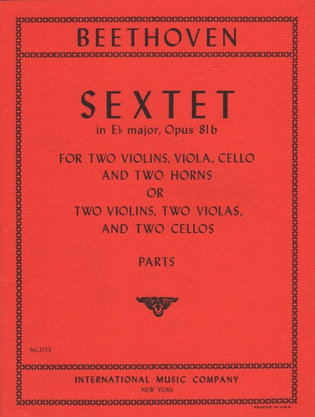 Sextet in E-flat major, Op. 81b - Mixed Sextet (Parts)