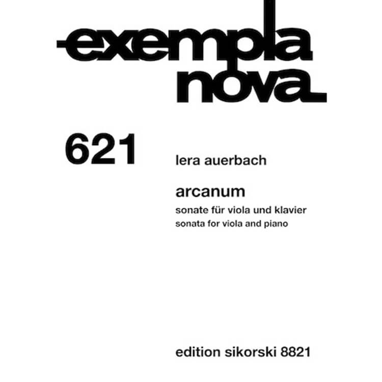 Arcanum: Sonta for Viola and Piano