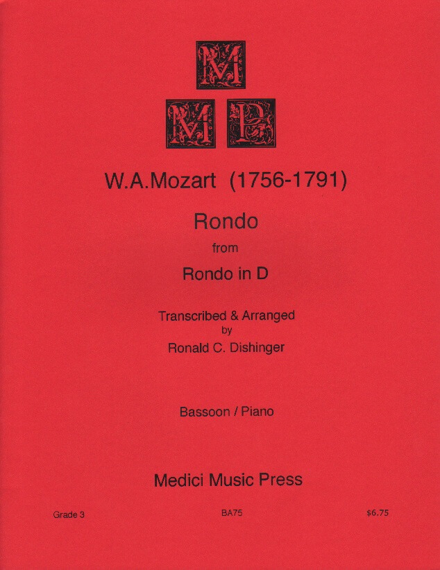 Rondo in D - Bassoon and Piano