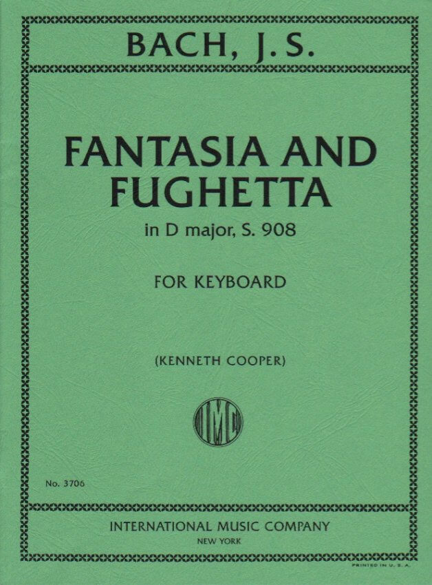 Fantasia and Fughetta in D Major - Piano