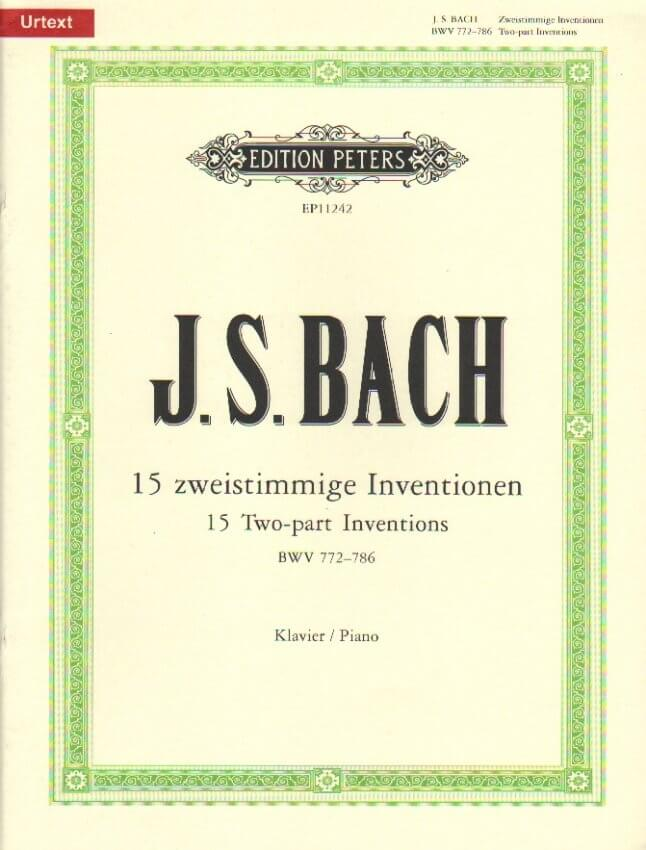 15 2-Part Inventions BWV 772-786 - Piano