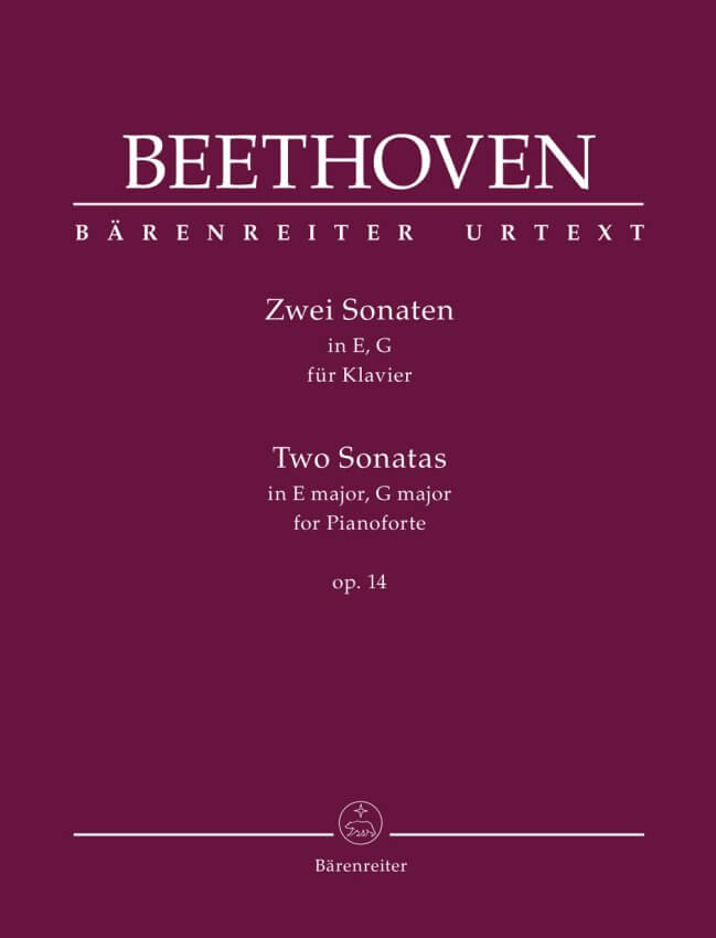 Two Sonatas in E major and G major, Op.14 - Piano