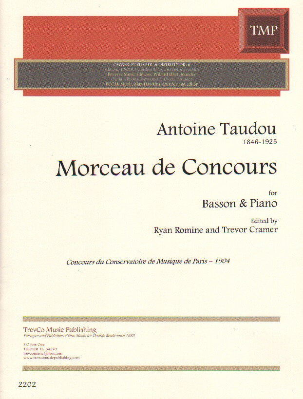 Morceau de Concours - Bassoon and Piano