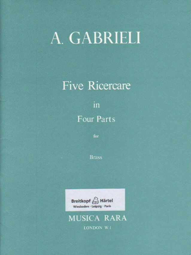 5 Ricercare in Four Parts - Brass or Recorder Quartet