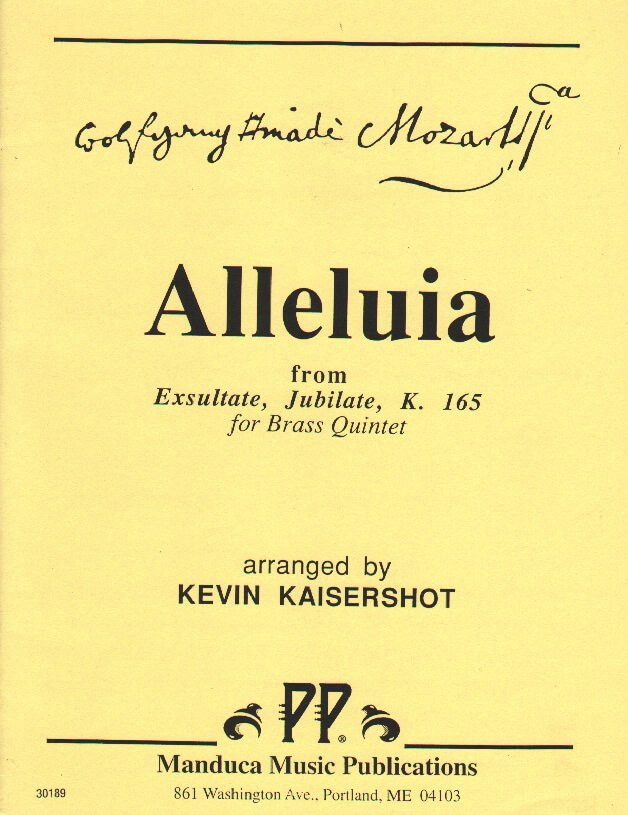 Alleluia from Exsultate, Jubilate, K. 165 - Brass Quintet