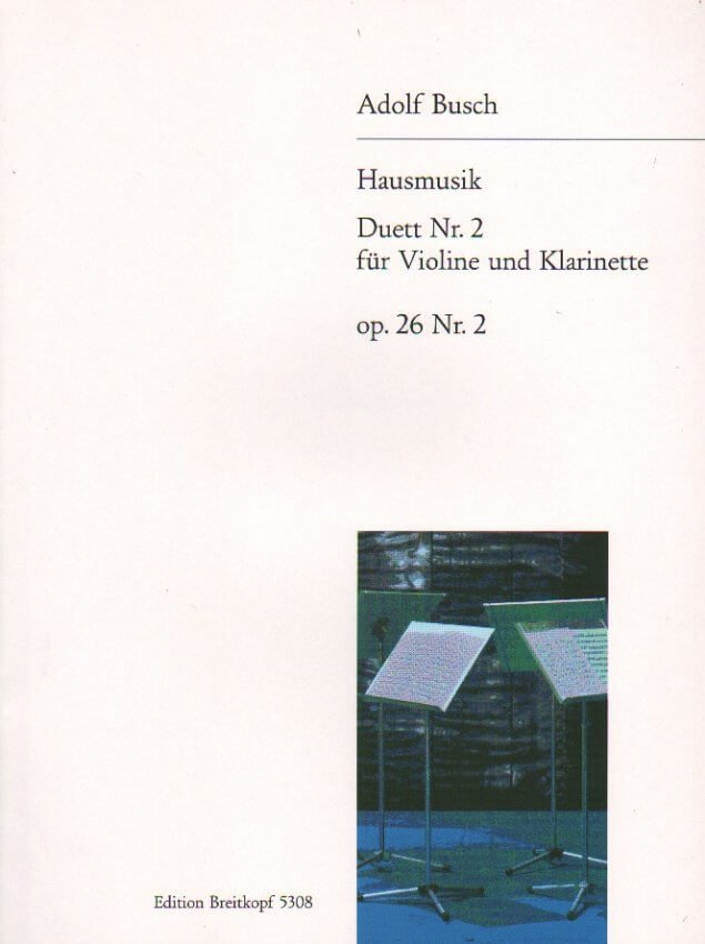 Hausmusik, Op. 26, No. 2 - Violin and Clarinet