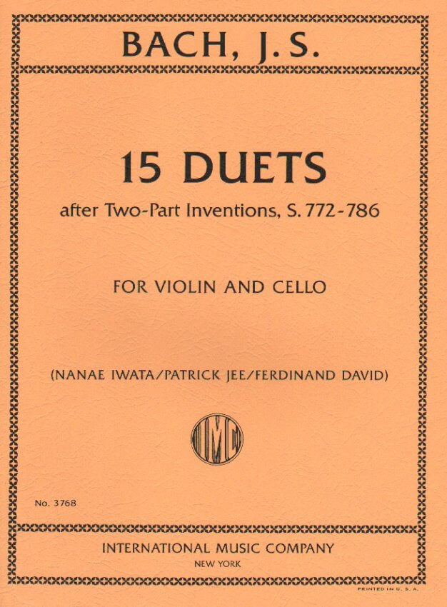 15 Duets after Two-Part Inventions, S. 772-786 - Violin and Cello Duet