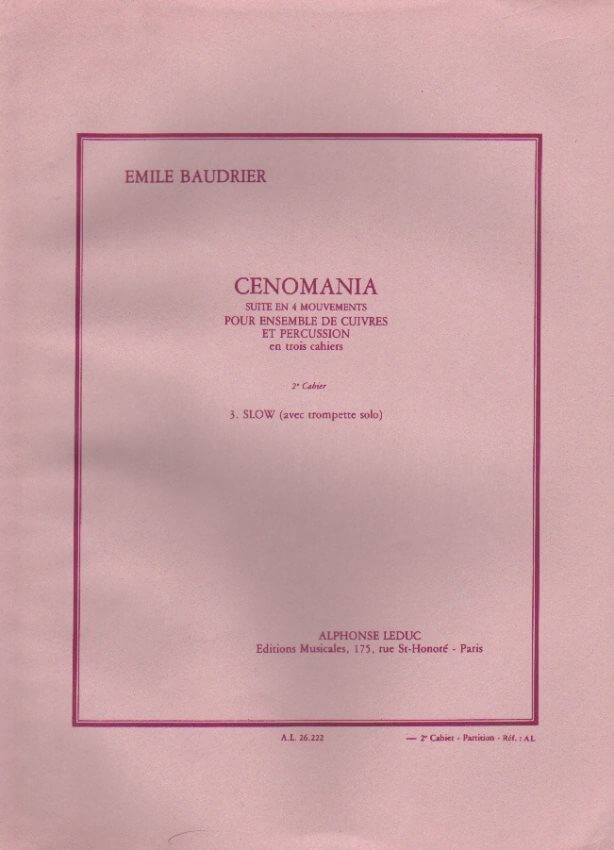 Cenomania, Part 2 (Mvmt 3) - Brass Ensemble (Score Only)