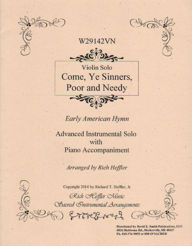 Come, Ye Sinners, Poor and Needy - Violin and Piano