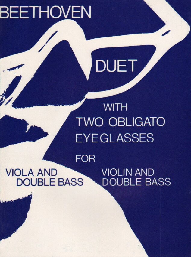 Duet with Two Obligato Eyeglasses, WoO 32 - Violin (or Viola) and String Bass