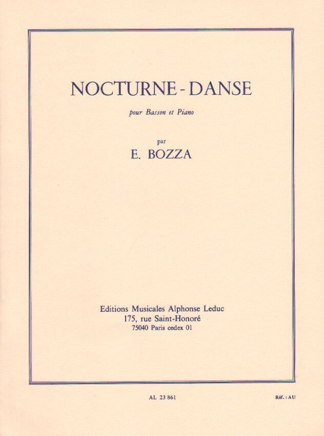 Nocturne-Danse - Bassoon and Piano