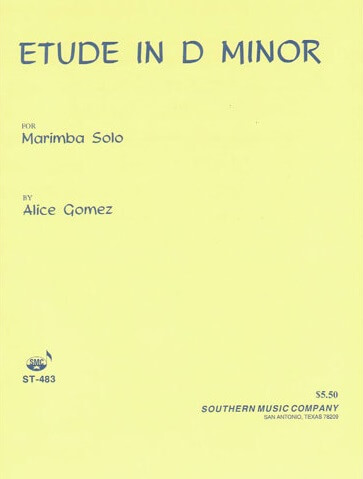 Etude in D Minor - Marimba Solo
