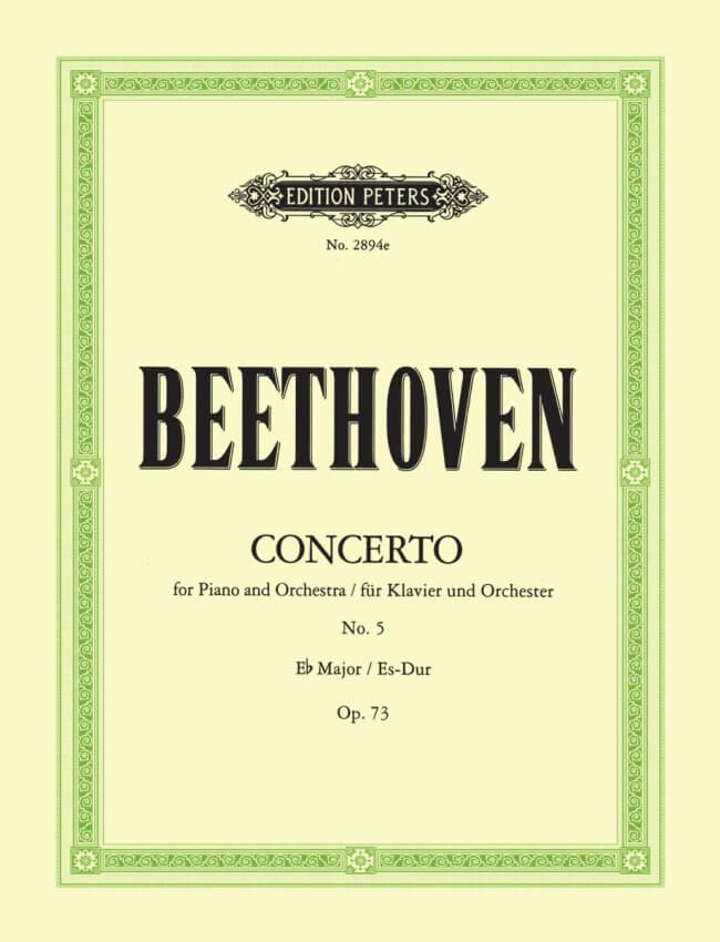 Concerto No. 5 in E-flat Major, Op. 73 - Piano