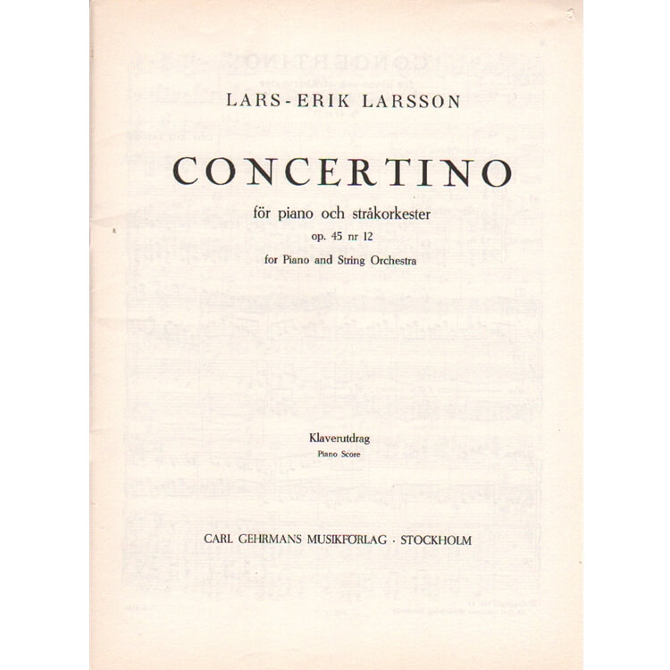 Concertino for Piano and String Orchestra, Op. 45, No. 12