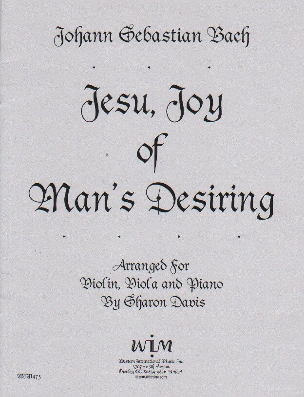 Jesu, Joy of Man's Desiring - Violin, Viola and Piano