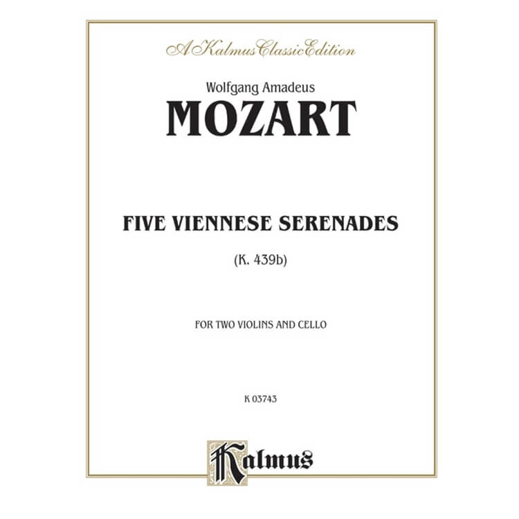 5 Viennese Serenades, K 439b - Two Violins and Cello (Parts)