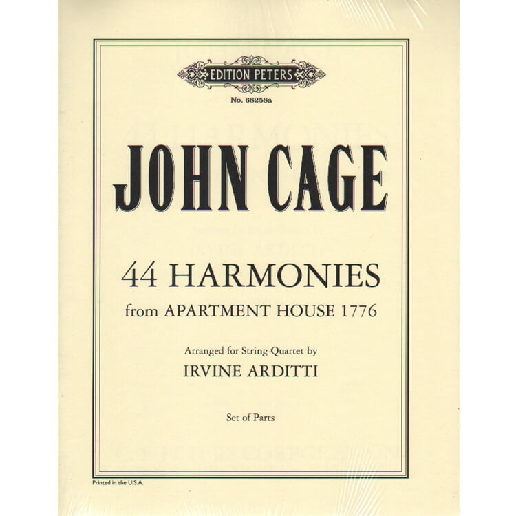44 Harmonies from Apartment House 1776 - String Quartet (Parts)