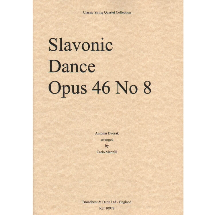 Slavonic Dance, Op. 46 No. 8 - String Quartet (Set of Parts)