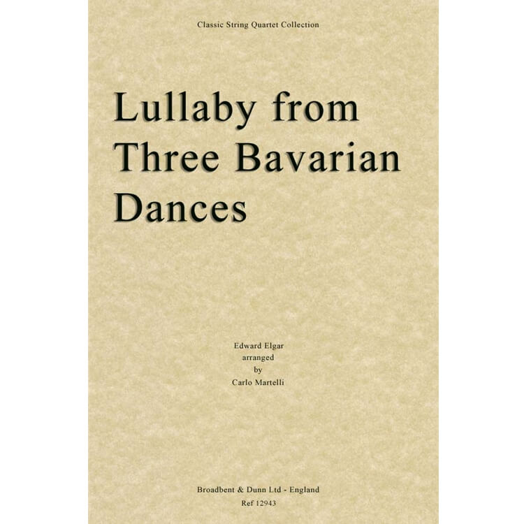 Lullaby from Three Bavarian Dances - String Quartet (Set of Parts)