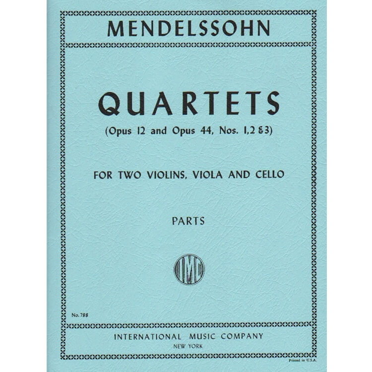 Quartets, Op 12 and Op 44, Nos. 1-3 - String Quartet (Set of Parts)