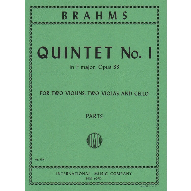 Quintet No. 1 in F major Op. 88 - String Quintet (Set of Parts)