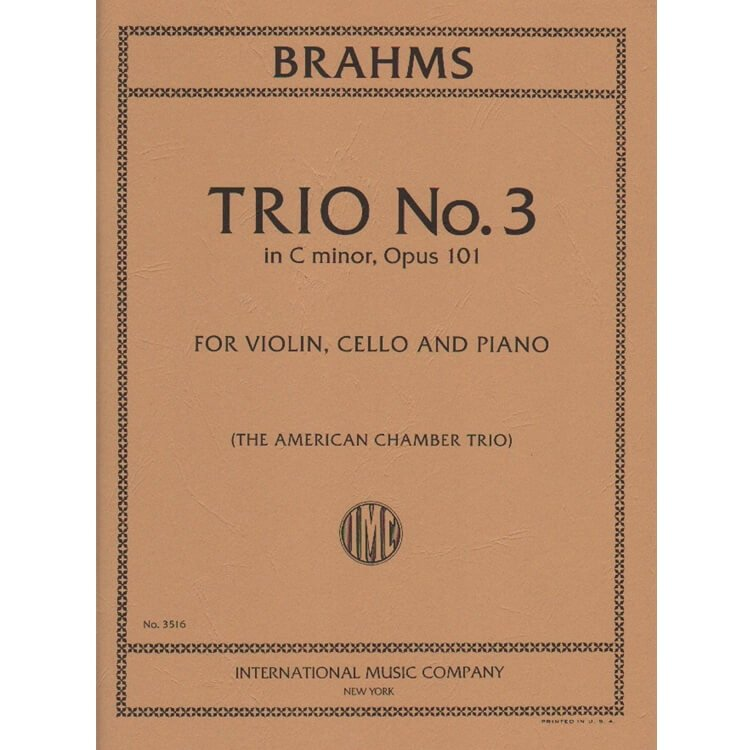 Trio No. 3 in C minor, Op. 101 - Violin, Cello and Piano