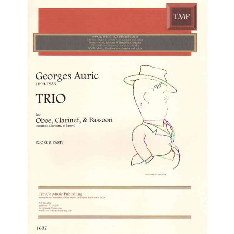 Trio - Oboe, Clarinet, and Bassoon (SCORE/PARTS)