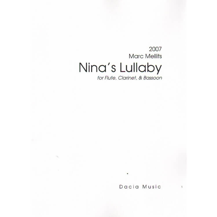 Nina's Lullaby - Flute, Clarinet, and Bassoon