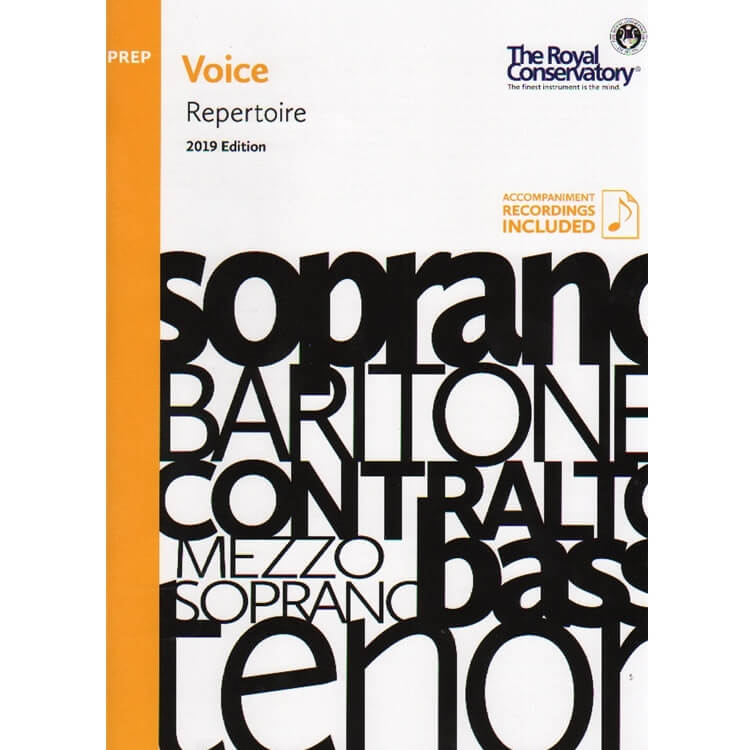 Royal Conservatory Voice Repertoire (2019 Edition) - Preparatory